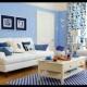 Intip Contoh Desain Ruang Tamu Warna Biru Yuk!